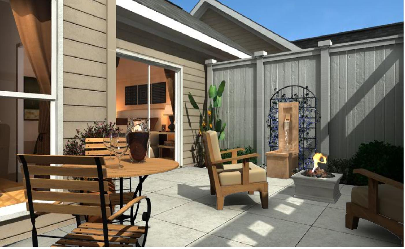 Introducing the courtyard collection nhd buzz press releases for Homes with enclosed courtyards