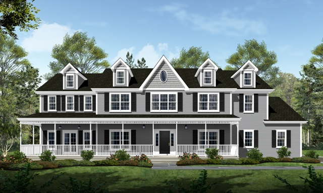 Rendering of home by Mahoney Homes