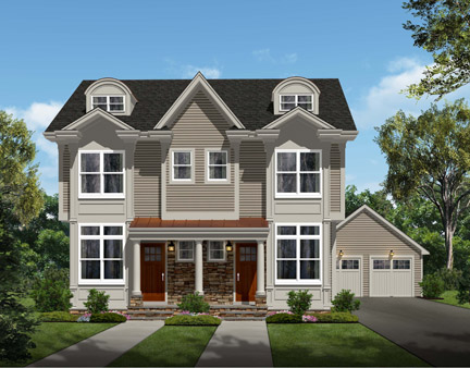 New homes in Millburn, NJ by Millennium Custom Homes and Hartshorn Partners